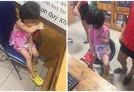 Bé gái bị mẹ mắng chửi, dùng túi đánh vào mặt ngay siêu thị vì làm mất 1 gói kẹo