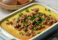 Bữa tối ngon lành với món trứng hấp thịt mịn mượt đậm đà