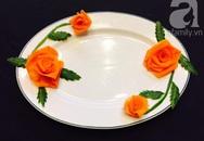 Cách tỉa hoa hồng siêu xinh từ cà rốt và dưa chuột