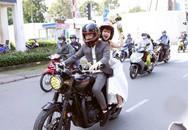 Khởi My - Kelvin Khánh rước dâu bằng moto