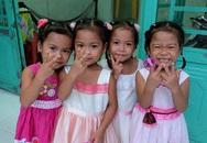 Ca sinh tư hiếm gặp ở Việt Nam xinh xắn tuổi lên 5