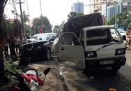 Tài xế văng khỏi ôtô sau cú tông xe giữa ngã tư