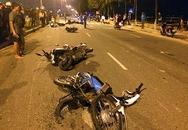 8 xe máy tông nhau, ít nhất 5 người bị thương
