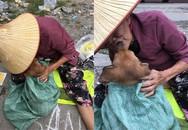 Rưng rưng với nụ hôn và giọt nước mắt tiễn biệt của cụ bà trước khi bán chú chó nhỏ đổi tiền chữa bệnh