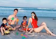Vợ xinh đẹp của Đăng Khôi khoe ảnh gia đình đi chơi khiến ai cũng ghen tị