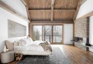 Bạn sẽ chẳng muốn ra khỏi giường khi sở hữu một phòng ngủ rustic thế này