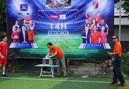 """Đội bóng """"tập đoàn Phan Thị"""" đá bóng gây quỹ từ thiện cho bé Lưu Thị Hồng Phương"""