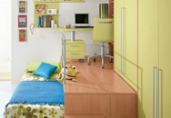 Giường giật cấp:  Vừa tạo vẻ đẹp ấn tượng vừa mang đến nhiều chức năng hữu ích cho phòng của bé