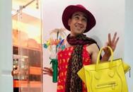 MC Quyền Linh mặc váy hoa sặc sỡ, trở thành mẫu 'bất đắc dĩ' để con gái thỏa sức sáng tạo thời trang