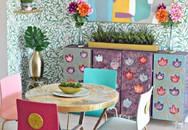 Phòng ăn trong căn nhà đi thuê được cặp vợ chồng sửa lại khiến chủ nhà cũng phải tấm tắc khen ngợi