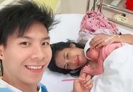 Quốc Nghiệp vào tận phòng sinh đón con gái chào đời sau lập kỷ lục Guiness thế giới