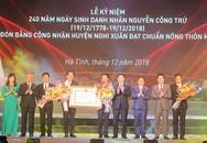 Nghi Xuân (Hà Tĩnh): Phó thủ tướng trao bằng công nhận đạt chuẩn huyện nông thôn mới