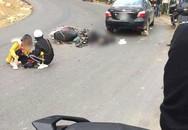 Xe máy mất phanh, hai phượt thủ bị thương ở Tam Đảo