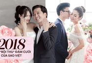 """Mùa cưới 2018 của showbiz Việt: Từ sóng gió cô dâu """"đại chiến"""" tình cũ cho tới ồn ào """"cưới chạy bầu"""""""