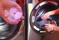 Thả 3 viên đá vào máy giặt, đồ lấy ra tự phẳng, mặc trăm lần cũng không bạc màu