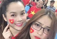 Bạn gái Quang Hải, Tiến Linh xuất hiện xinh đẹp ở khán đài sân Mỹ Đình