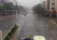 Mưa lớn, nhiều tuyến đường tại TP Vinh (Nghệ An) ngập nặng