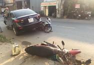 Xế hộp tông nhiều xe máy khiến 3 người bị thương ở Sài Gòn