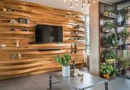 10 phòng khách với thiết kế bức tường gỗ độc đáo và ấm áp