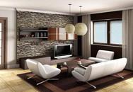 """Năm mới phải làm đá ốp tường phòng khách kiểu này thì mới """"chất"""""""