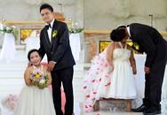 Bức ảnh cưới cô dâu cao tới hông chú rể khiến nhiều người tò mò