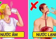 Sai lầm khi uống nước lạnh vào ngày nóng
