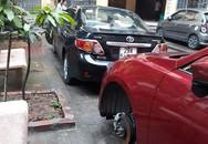 Gần chục ôtô của người dân bị rạch lốp lúc sáng sớm
