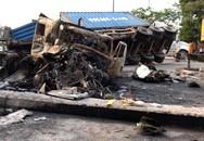 Tai nạn nghiêm trọng: 2 xe container bốc cháy, 2 người chết thảm