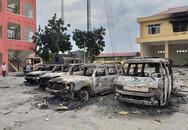 Khám nghiệm hiện trường vụ gây rối ở Bình Thuận