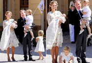Công chúa Thụy Điển trừng mắt khi con gái lăn lộn trong lễ rửa tội
