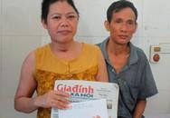 Báo Gia đình và Xã hội trao tiền ủng hộ của độc giả cho hai vợ chồng bị tai nạn thương tâm