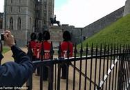 """Cái kết đắng của nữ du khách khi cố tình """"vượt rào"""", cản trở lính gác của Nữ hoàng bên ngoài lâu đài Windsor"""