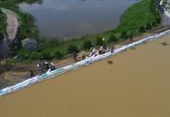 Ngập lụt ở Hà Nội: Mưa to trở lại, vạn dân đê tả sông Bùi trong tình trạng căng thẳng