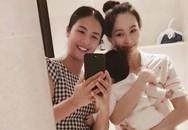 """Ngọc Hân tung ảnh selfie khiến Hoa hậu Thu Thảo """"hiện nguyên hình"""" bà mẹ bỉm sữa"""