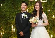 Tuyết Lan hôn chú rể trong tiệc cưới