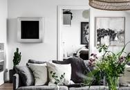 Những tưởng tẻ nhạt và nhàm chán khi dùng hai màu xám và trắng, nhưng căn hộ này lại đẹp không tỳ vết