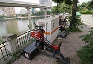 Hà Nội: Xe đạp lọc nước hồ Hoàng Cầu sắp thành đống phế liệu