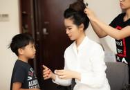 Dương Thùy Linh được con trai động viên khi phải dậy sớm làm việc