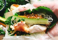 Cá lóc hấp bầu cuốn bánh tráng cho tối cuối tuần