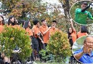 Olympic Việt Nam đến trường học tập luyện trước trận tranh HC đồng