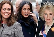"""""""Chơi xấu"""" con dâu, bà Camilla bị 2 công nương Kate và Meghan phản ứng như thế này?"""