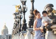 Vợ Đan Trường một mình đưa con trai du ngoạn châu Âu