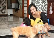 Nữ ca sĩ Tia Hải Châu nuôi 3 chú chó trong ngôi nhà 200m2