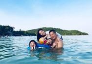 Vợ chồng Jennifer Phạm đưa hai con đi nghỉ dưỡng ở Phú Quốc