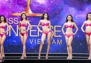 Clip Hoàng Thùy ngã mạnh khi thi áo tắm ở HHHV lan truyền trên mạng