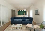 Cải tạo căn hộ tối tăm được xây dựng từ năm 1930 thành không gian ngập tràn ánh sáng