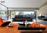 Không gian sống trẻ trung với nội thất màu cam