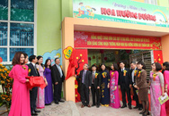 Trường mầm non Hoa Hướng Dương đón nhận trường chuẩn quốc gia