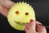 """Miếng mút mặt cười: Loại mút rửa bát """"thần thánh"""" cọ sạch mọi vết bẩn"""