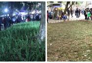 Vườn hoa hồ Gươm bị 'san phẳng' sau đêm giao thừa
